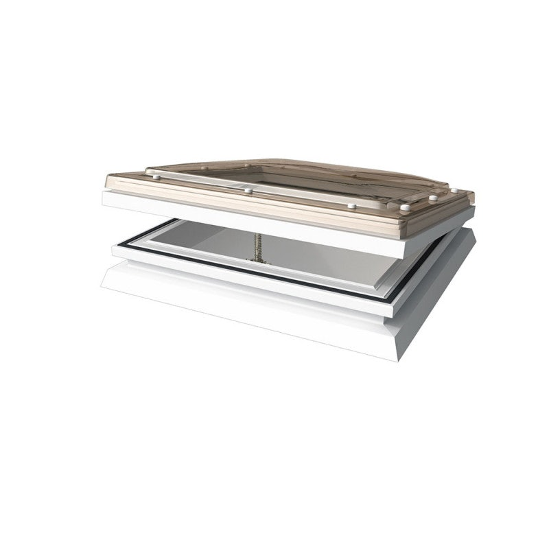 Mardome Trade Triple Skin Opening Rooflight in Bronze with Auto Humidity Vent Manual Opening - 600mm x 900mm
