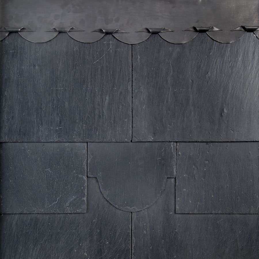 Mocha SS04F Spanish First Quality Natural Slate in Black - 500mm x 375mm