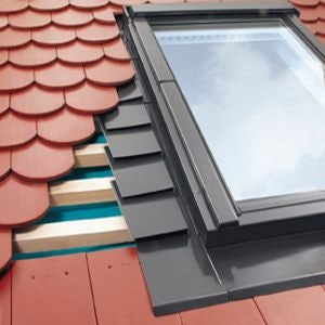 EPV/10 Fakro Single Flashing For Plain Tiles Up To 15mm - 114cm x 118cm