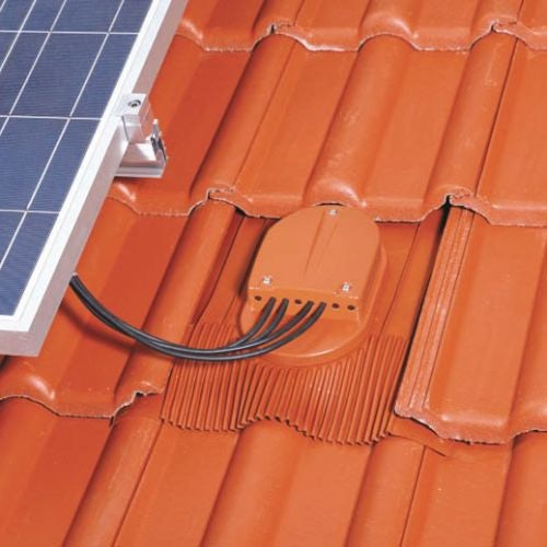 Klober Venduct Solar PV Cable Outlet Tile Kit ~ Brown