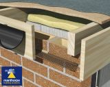 Manthorpe Flat Roof Soffit Vent (25,000mm2) 2.44m Brown - Pack of 10