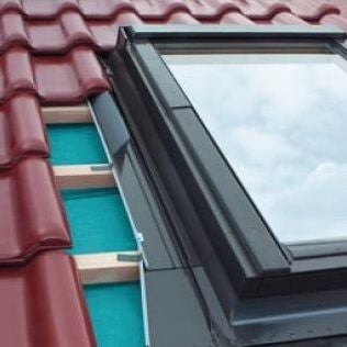 FAKRO EHV-AT/13 Thermo Flashing For Up To 90mm Interlocking Tiles - 78cm x 160cm