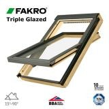 Fakro FTP V U5/16 Pine Centre Pivot Window Triple Glazed - 55 x 118cm