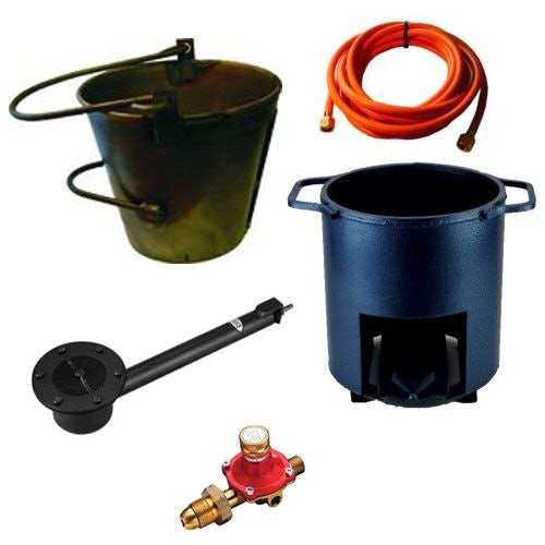 Asphalt Kit - Round Bucket, Bucket Heater, Small Impact Burner, Hose & Reg