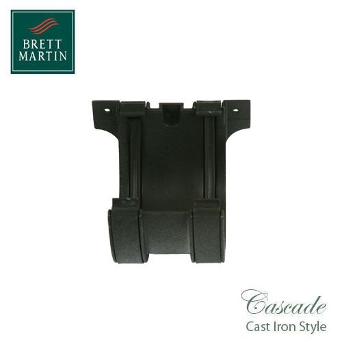 Cascade Cast Iron Style 115mm Plastic Deepstyle Union Bracket - Black