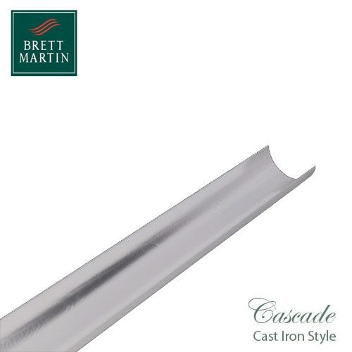 Cascade Cast Iron Style 112mm x 4m Plastic Roundstyle Guttering White