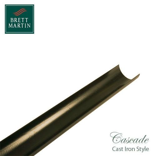 Cascade Cast Iron Style 112mm x 4m Plastic Roundstyle Guttering - Sand
