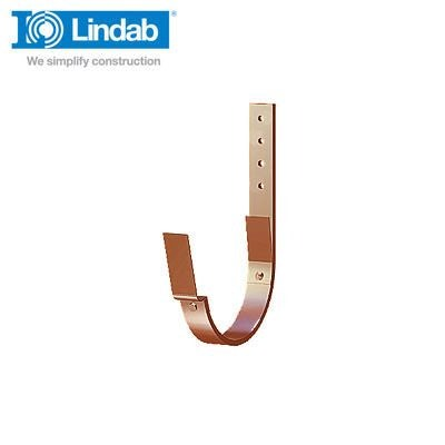Lindab Half Round Fascia Bracket 190mm Painted Tile Red