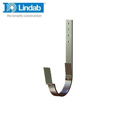 Lindab Half Round Steel Rafter Bracket 337mm x 190mm Painted Brown