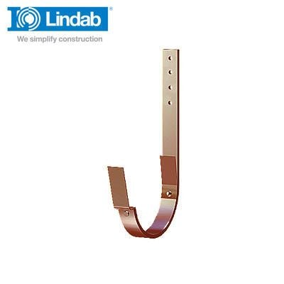 Lindab Half Round Rafter Bracket 337mm x 190mm Painted Dark Red