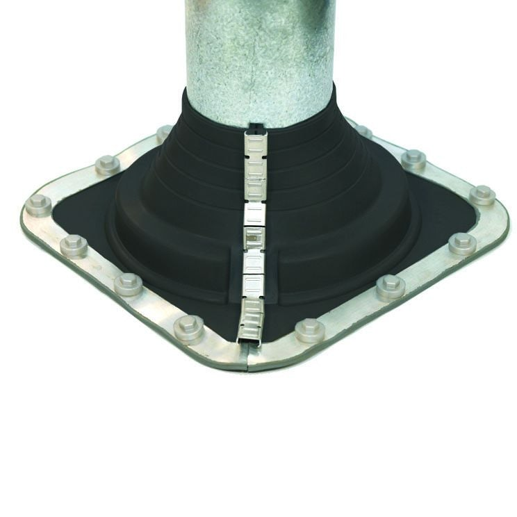 Pipe Flashing for Metal Roofs 108-190mm Dektite Combo Black EPDM
