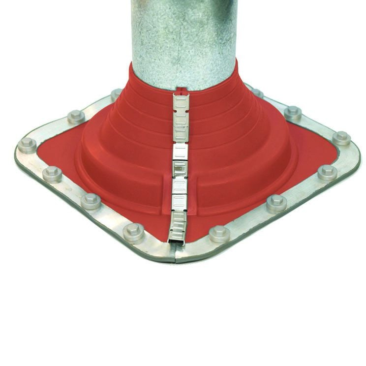 Pipe Flashing for Metal Roofs 45-85mm Dektite Combo Red Silicone