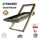 Fakro FTT U8/12 Quad Glazed Window Pine Centre Pivot - 134cm x 98cm