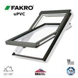 Fakro PTP-V P2/09 uPVC Centre Pivot Window Laminated - 94cm x 140cm
