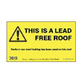 Deks Lead Free Roof Sign