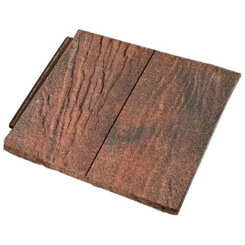 Forticrete Gemini Interlocking Plain Tiles - Sandfaced Ember Blend