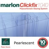 40mm Pearlescent Tenwall ClickFix Polycarbonate Sheet 7000mm x 500mm