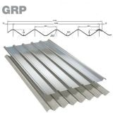 GRP Double Six M Grey Roof Sheet (Class 3 - 2.4kg/m2) - 3050mm
