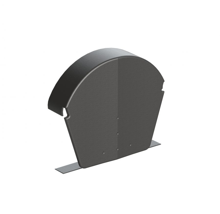 Universal Dry Verge Half Round Ridge End Cap (Grey) Pack of 2