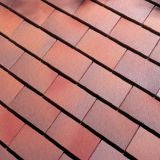 Dreadnought Premium Clay Eaves Roof Tile - Brown Antique Smooth