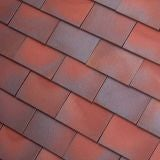 Dreadnought Premium Clay Eaves Tile - Red Blue Blend Smooth