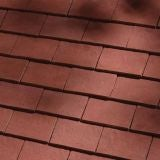Dreadnought Classic Clay Roofing Tile & Half - Deep Red Sandfaced