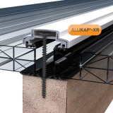 ALUKAP-XR 45mm Aluminium Bar with End Cap in White - 3.6m