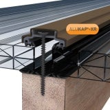 ALUKAP-XR 45mm Aluminium Bar with End Cap in Brown - 6m