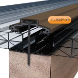 ALUKAP-XR 60mm Aluminium Bar with End Cap in Brown - 3m