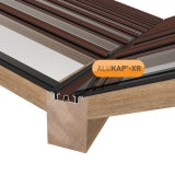 ALUKAP-XR Valley Bar with Gaskets 4.8m - Brown
