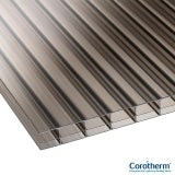 Corotherm 16mm Bronze Triplewall Polycarbonate Sheet - 2000mm x 2100mm