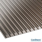 Corotherm 10mm Bronze Twinwall Polycarbonate Sheet - 6000mm x 1050mm