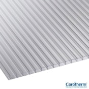 Corotherm 10mm Clear Twinwall Polycarbonate Sheet - 2500mm x 2100mm
