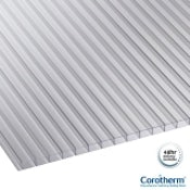 Corotherm 10mm Clear Twinwall Polycarbonate Sheets - 4000mm x 1050mm