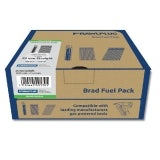 38mm x 1.6mm Silver Galvanised Angled Brad Fuel Pack - Box of 2000