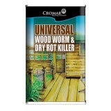 Cromar Universal Wood Worm & Dry Rot Killer - 5 Litres (Box Of 4)