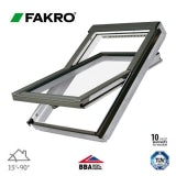 Fakro FTW-V P2/07 White Painted Centre Pivot Window - 78cm x 140cm