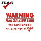 Flag Paints Anti Climb Sign