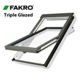 Fakro FTT/U U6/02 White PU Centre Pivot Window - 55cm x 98cm