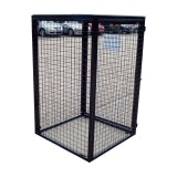 Gas Bottle / Cylinder Storage Cage - H1800 x W900 x D900mm Galvanised