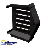 Manthorpe SmartVerge uPVC Eaves Closure Unit (Black) - Pack of 2