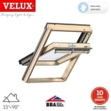 VELUX GGL FK08 3062 Pine Centre Pivot Window Triple Glazed - 66x140cm