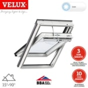 VELUX GGL SK06 207030 White Centre Pivot Solar INTEGRA Window - 114cm x 118cm