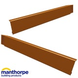 Manthorpe Linear Dry Verge L/H - Terracotta (815mm Long)