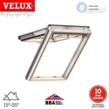 VELUX GPL PK06 3066 Pine Top Hung Window Triple Glazed - 94cm x 118cm