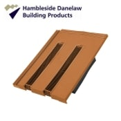 Hambleside Danelaw Non-Profile Flush Fit Tile Vent - Terracotta