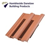 Hambleside Danelaw Double Roman Flush Fit Tile Vent - Terracotta
