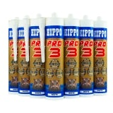 Hippo Pro 3 Adhesive Sealant & Filler 310ml Tube in Black - Box of 12
