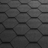 Katepal Super KL Hexagonal Bitumen Roofing Shingles (3m2) - Black