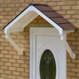 KoverTek Astor Canopy with White Frame and Brown Roof